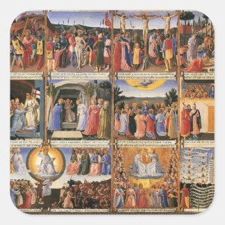 Platser för Fra Angelico- från livet av Kristus Fyrkantigt Klistermärke