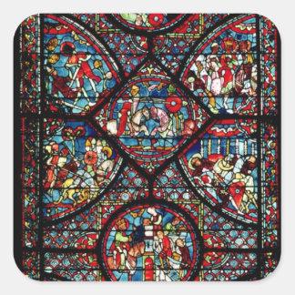 Platser från livet av Charlemagne Fyrkantigt Klistermärke