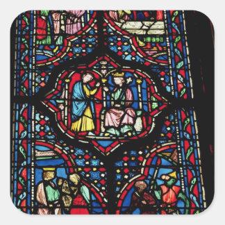 Platser från livet av kungen David, 13th Fyrkantigt Klistermärke