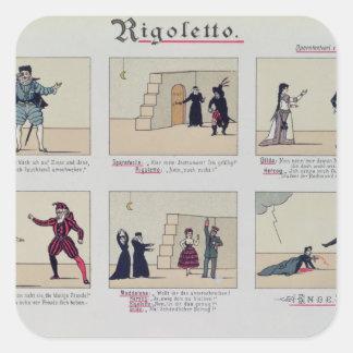 Platser från operan 'Rigoletto Fyrkantigt Klistermärke