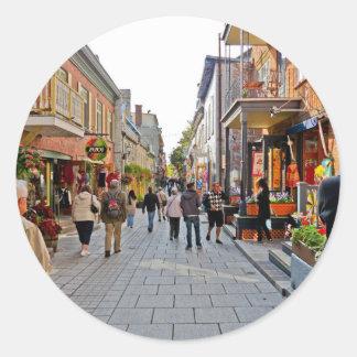 Platser från Quebec City Rund Klistermärke