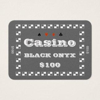 Platta $100 (100ct) för chip för poker för visitkort