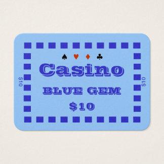 Platta $10 (100ct) för chip för poker för visitkort
