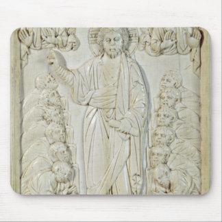 Platta som visar Kristus som välsignar apostlarna Musmatta