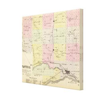 Platte County Nebraska Canvastryck