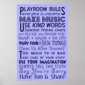 Playroomregler Poster