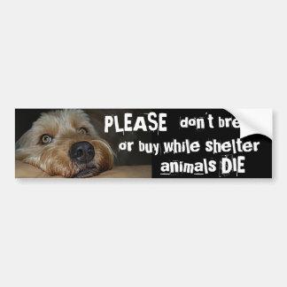 Please föder upp inte, eller djur för köpstundskyd bildekal