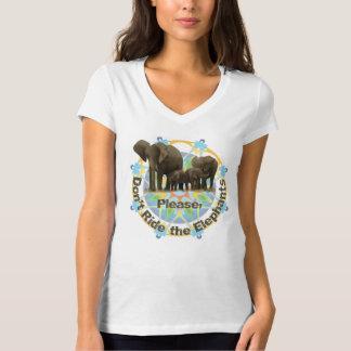 Please rider inte elefanterna tee shirts