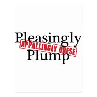 Pleasingly dun: APPALLINGLY OBESE Vykort