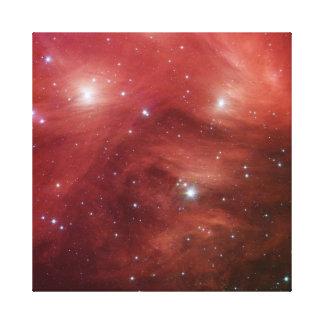 Pleiades i rosor kanvasduk med gallerikvalitet