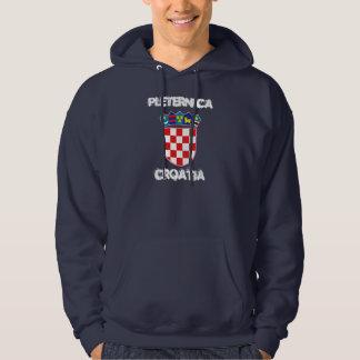 Pleternica Kroatien med vapenskölden Tröja Med Luva