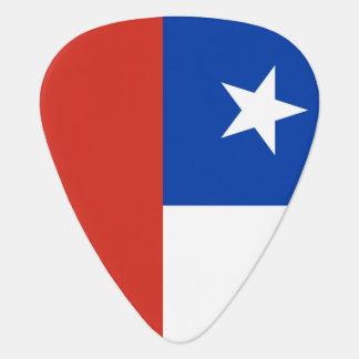 Plocka för Chiliflaggagitarr för chilenska musiker Plektrum