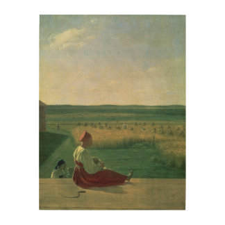 Plockning i sommaren, 1820s trätavla