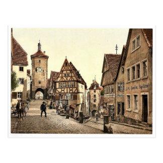 Ploenlein Rothenburg (dvs. obder Tauber), Bavari Vykort
