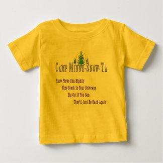 Plog för lägerMinne-Snö-Ta snö T Shirts