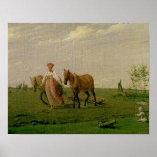 Plöja i vår, 1820s poster