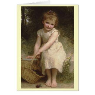 Plommoner - William-Adolphe Bouguereau Hälsningskort