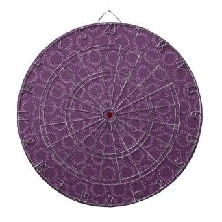 Plommonlilaabstrakt cirklar klottermönster piltavla