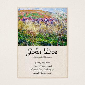 Plommonträd i blommar på Vetheuil Claude Monet Visitkort