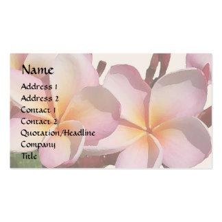 Plumeria blommar visitkorten set av standard visitkort