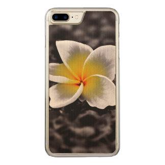 PlumeriaFrangipaniHawaii blomma Carved iPhone 7 Plus Skal