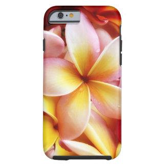 PlumeriaFrangipaniHawaii blomma skräddarsy tomt Tough iPhone 6 Fodral