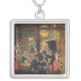 Plundringen av en lantgård silverpläterat halsband