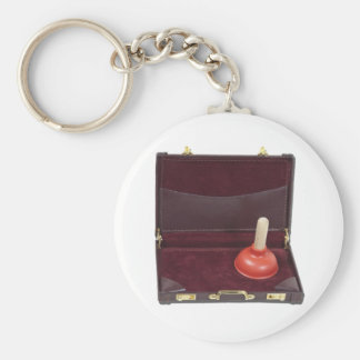 PlungerInBriefcase051411 Rund Nyckelring