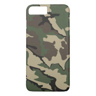 Plus för Camo iPhone 7, knappt där fodral