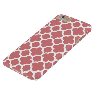 plusfodral för iPhone 6 - jordgubbeis Quatrefoil Barely There iPhone 6 Plus Skal