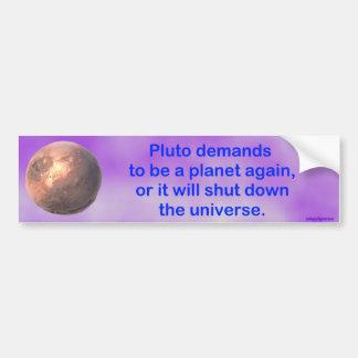 pluto begärningar att vara ett planet igen… bildekal