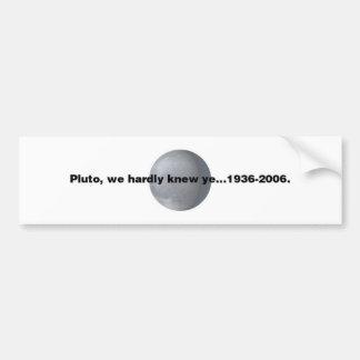 Pluto Bildekal