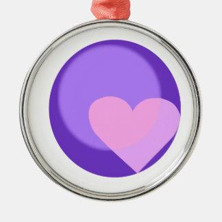 Pluto hjärta julgransprydnad metall