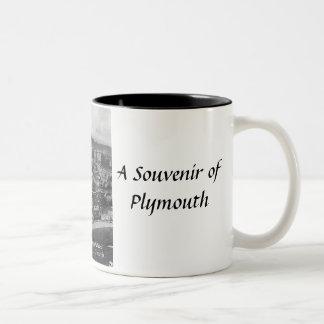Plymouth souvenirmugg Två-Tonad mugg