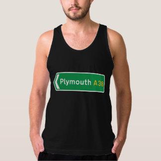 Plymouth UK-vägmärke Tank Top