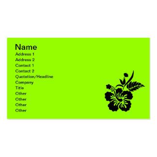 png_69-flowers- hawaiansk hibiskusblommasvart visitkort mallar