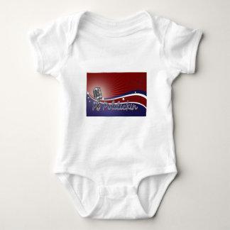 Po Politickin radiosände Mic-logotypen T-shirt
