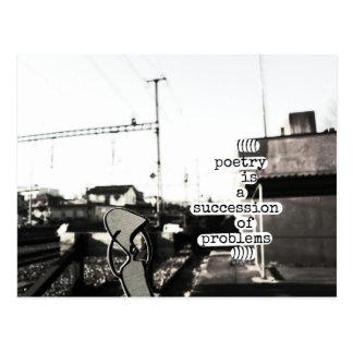 poesi är en följd av problem vykort