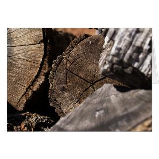 Poesi för någon kortet med den Wood högen Hälsningskort