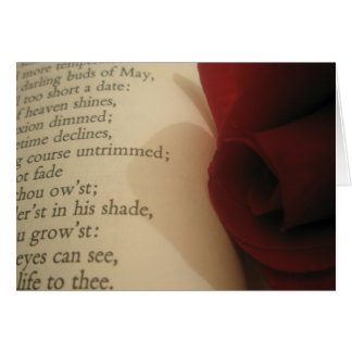 Poesi och ro hälsningskort