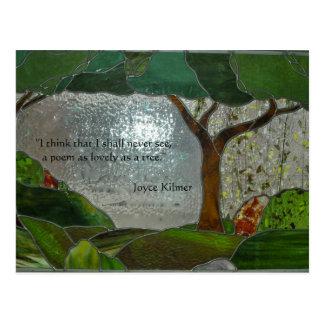 Poesi på målat glass vykort