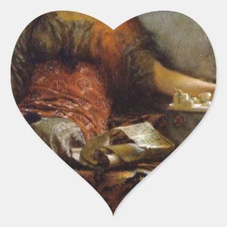 Poesi vid herr Lawrence Alma-Tadema Hjärtformat Klistermärke