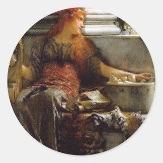 Poesi vid herr Lawrence Alma-Tadema Runt Klistermärke