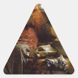 Poesi vid herr Lawrence Alma-Tadema Triangelformat Klistermärke