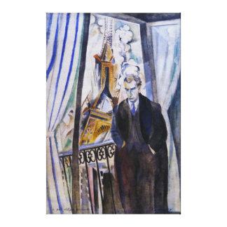 Poet Philip Soupault av Robert Delaunay Canvastryck