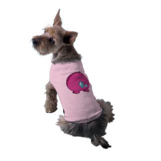Pogo O.o beställnings- rosa vovve Ribbed tanktop Hundtröja