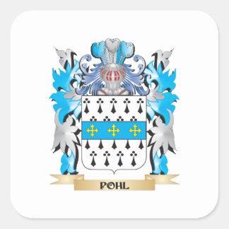 Pohl vapensköld - familjvapensköld fyrkantigt klistermärke