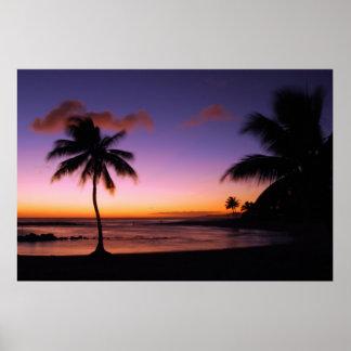 Poipu strand - Kauai, Hawaii Poster