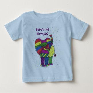 Pojke 1st t-skjorta för födelsedagelefant t shirt