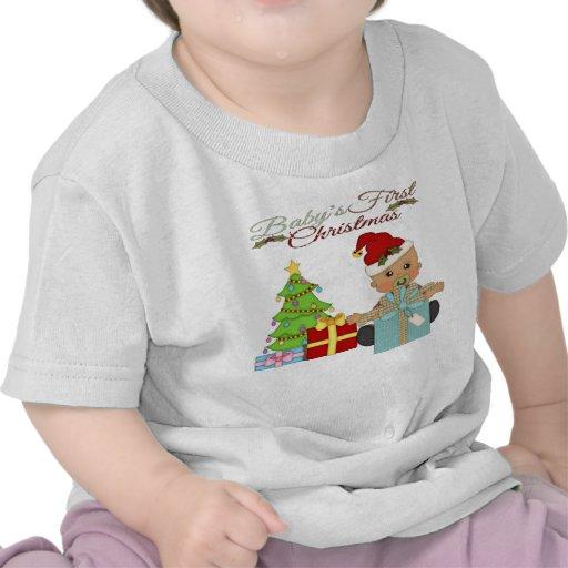 Pojke 1st T-tröja för julspädbarn
